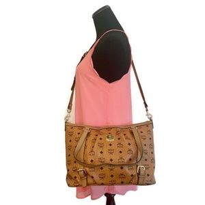MCM Brown Shoulder/Crossbody Bag Authentic